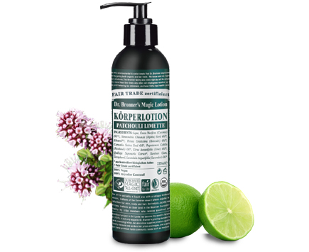 Dr. Bronners Bio Body Lotion - Patchouli/Limone 240ml