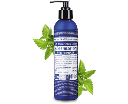 Dr. Bronners Bio Body Lotion - Pfefferminz 240ml