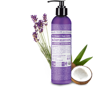 Dr. Bronners Bio Body Lotion - Lavendel/Kokosnuss 240ml